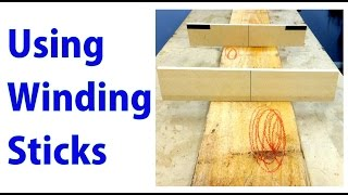 Winding Sticks and How to Use Them - Beginners #23 - a woodworkweb video