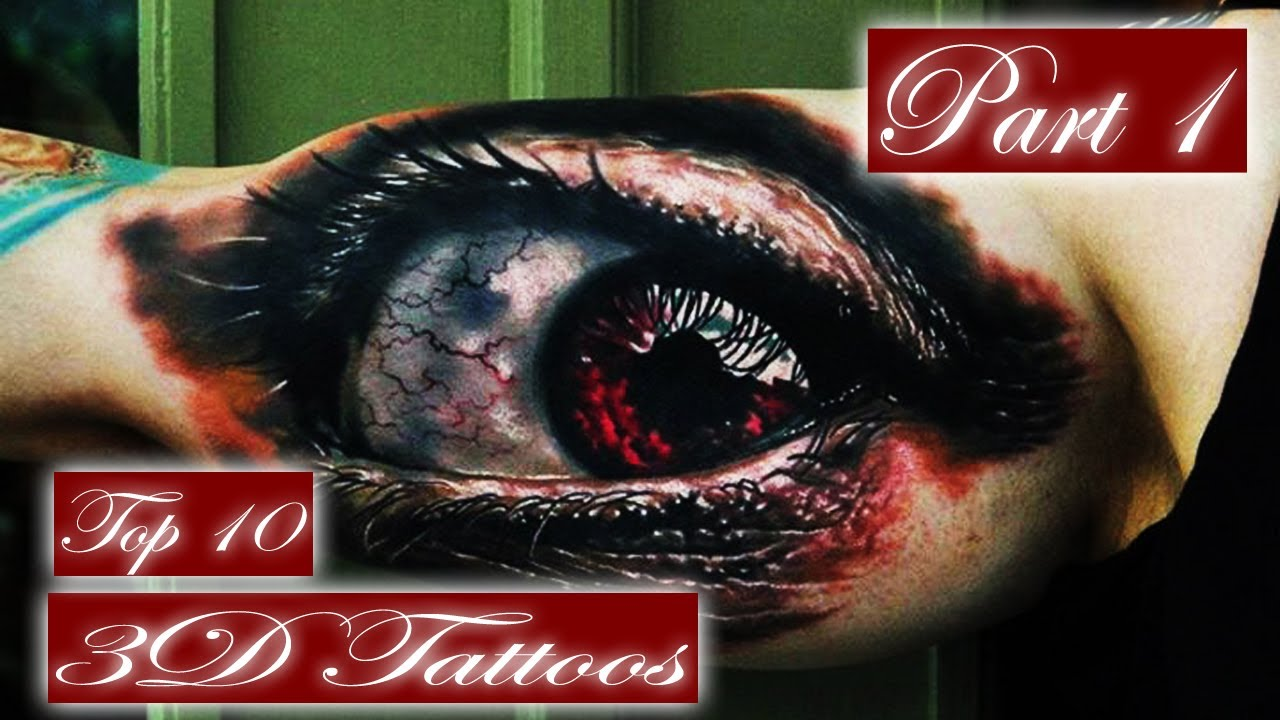 Best 3D Tattoos  Top 10 In The World PART 1