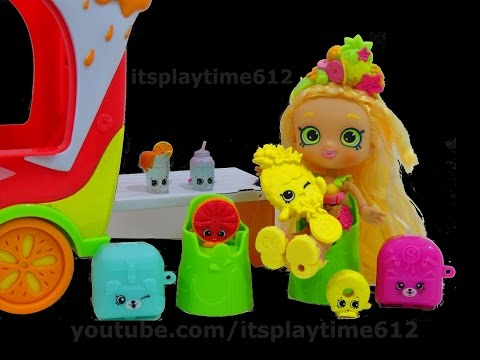 SHOPKINS SMOOTHIE TRUCK COMBO w/ Pineapple Lily Surprise Toys | itsplaytime612