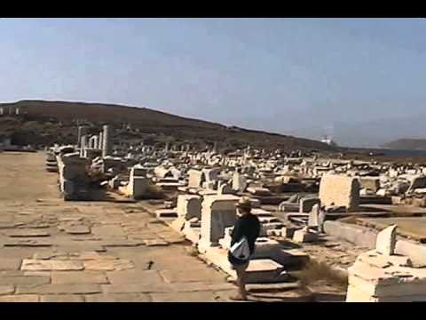 An overview of the island of Delos