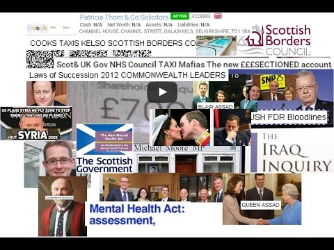 Scot& UK Gov NHS Council TAXI Mafias The new £££SECTIONED account holder NOT REVEALED