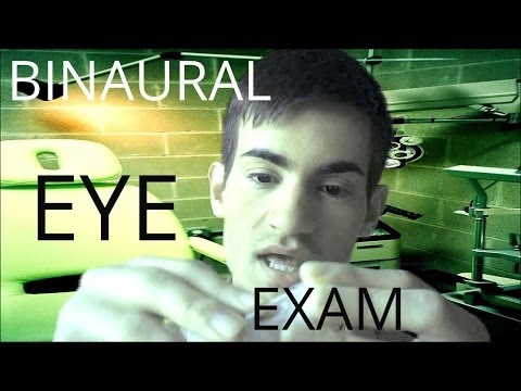 3D / Binaural Sound: Very Relaxing Eye Exam Roleplay (Soft Spoken ASMR)