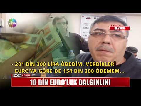 10 Bin Euro'luk dalgınlık!