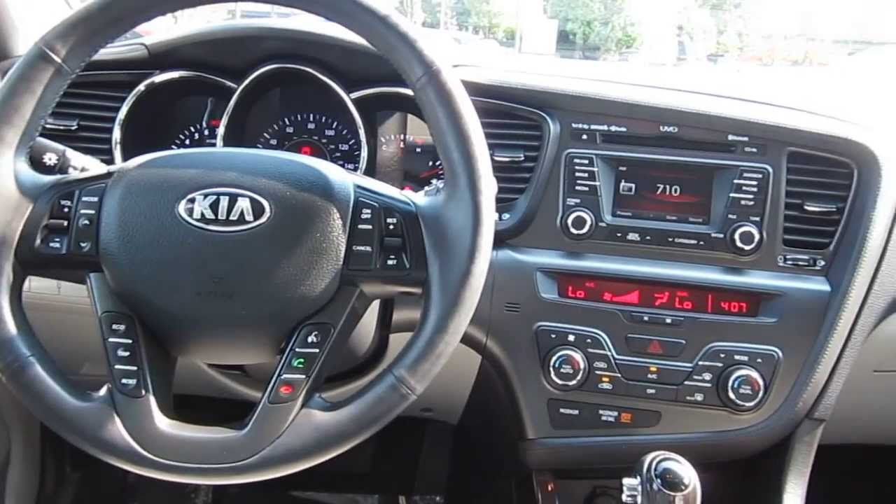 2013 Kia Optima Bright Silver Metallic Stock 5207a
