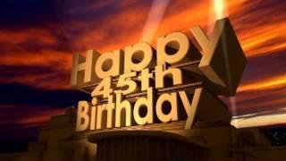 Download Lagu Happy 45th Birthday Gratis STAFABAND