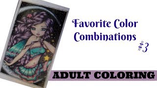 Favorite Prismacolor Combinations #3 | Purple Hair, Green Eyes