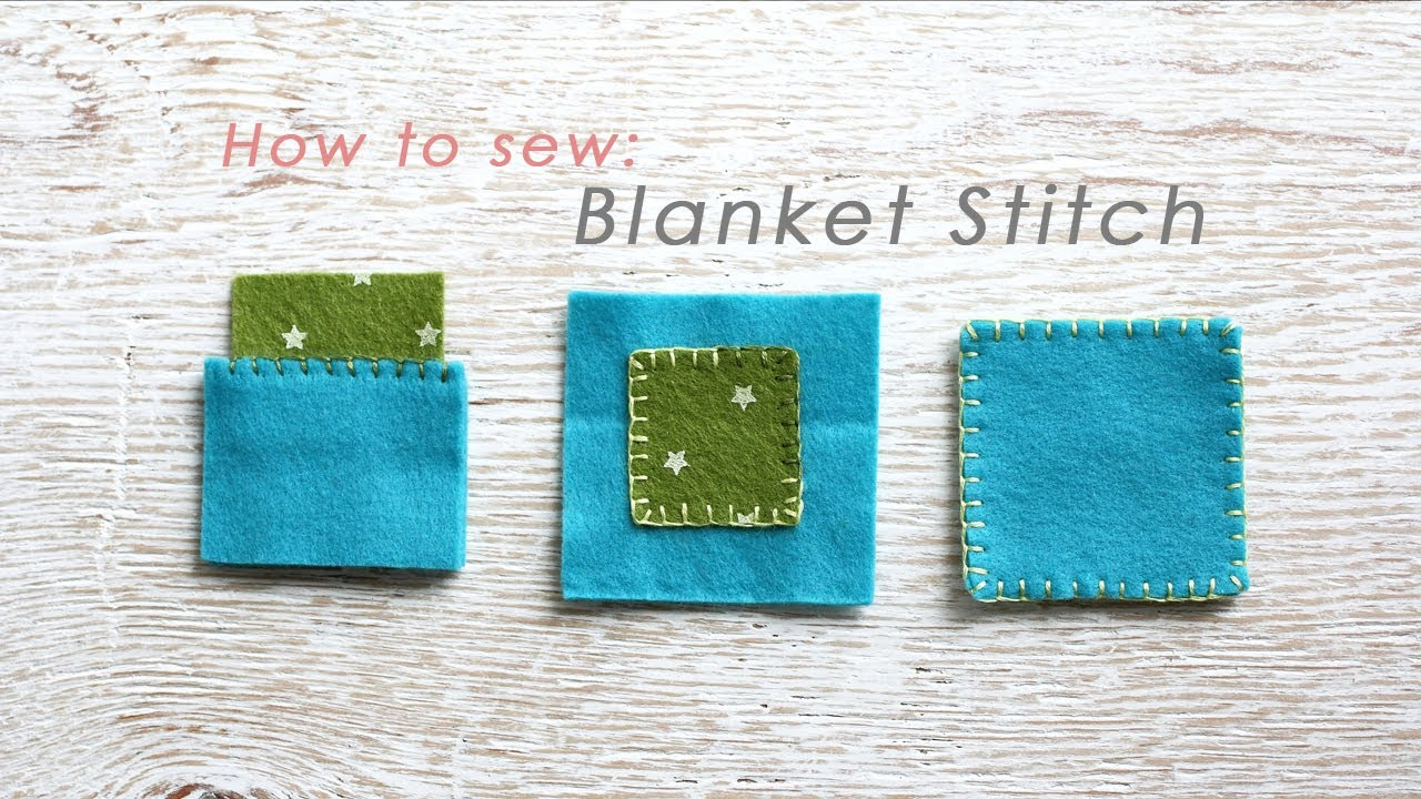 how to hand sew a blanket stitch for 3 different seams youtube. Black Bedroom Furniture Sets. Home Design Ideas