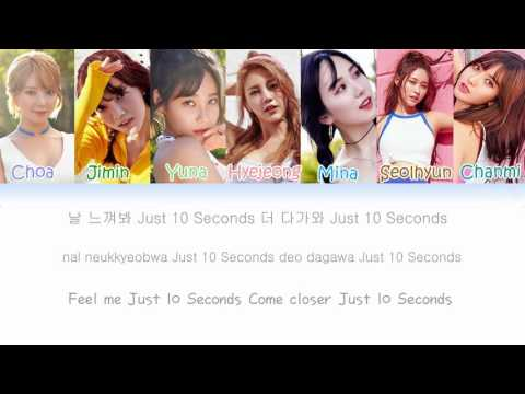 AOA (에이오에이) – 10 Seconds Lyrics (Han|Rom|Eng|Color Coded)