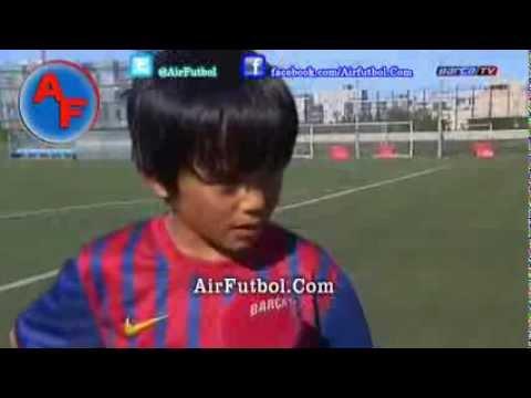 Nova promessa do Barcelona tem apenas dez anos ,takefusa kubo.