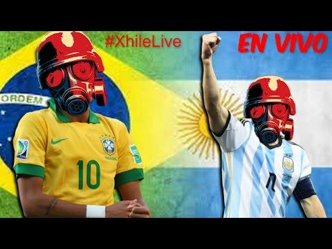 #XhileLive | ARGENTINA vs BRASIL | Vamos Arg! ( ͡° ͜ʖ ͡°) | Radio