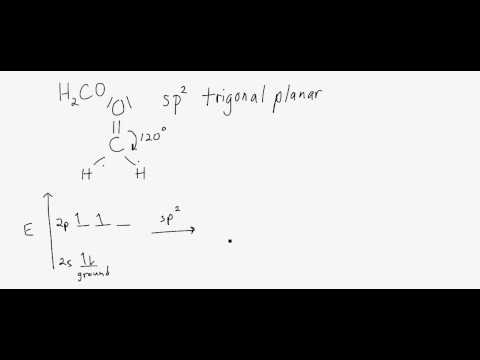 Hybridization Geometries Bond Angles H2co Molecular Geometry