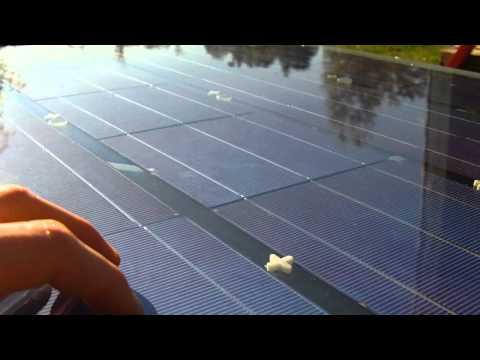 DIY Solar Hydrogen / HHO gas Production Panel