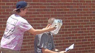 Giant Pie In The Face Prank