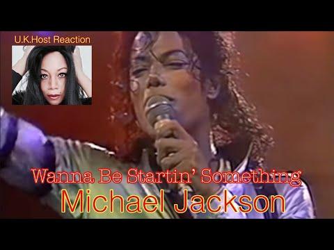 Michael Jackson   Wanna Be Startin' Something  Live - U.K.Host Reaction