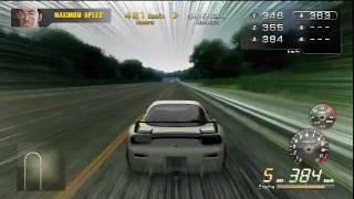 Wangan Midnight PS3 421 Kph FD3S Maximum Speed Record Run