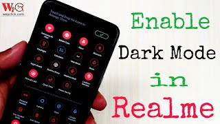 Enable Dark Mode in any Realme Device without app | Customize any Realme phones | WepClick