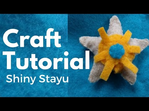 I made a tutorial and free pattern! (DIY: Felt Staryu Pokemon Plush Tutorial | Free Pattern!)
