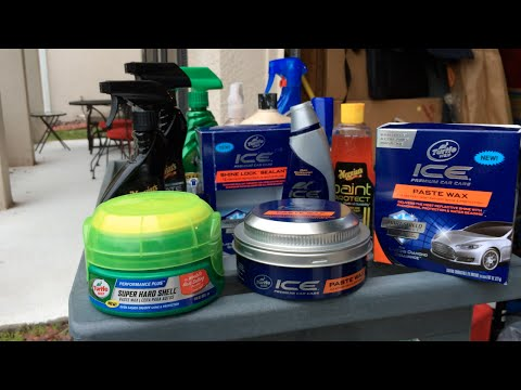 New 2015 Turtle Wax Super Hard Shell Paste Wax & ICE Paste Wax - Review