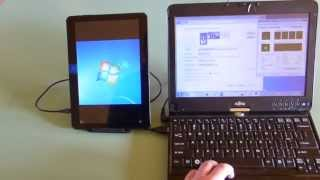 Android tablet as a second monitor for a Windows PC via a USB cable, shorter version