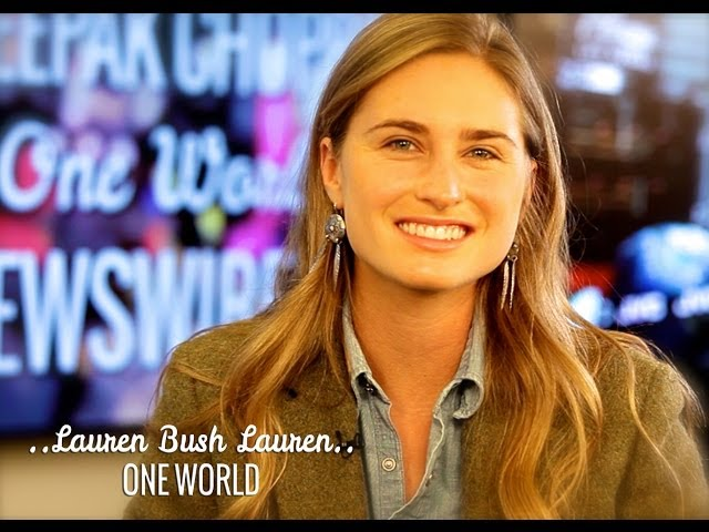 Lauren Bush Lauren and Deepak Chopra | ONE WORLD