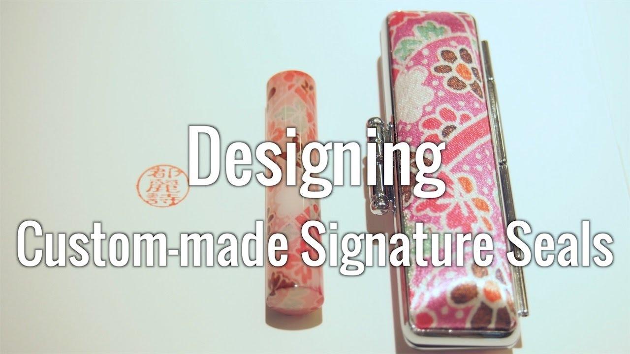 Ginza Itoya : Designing Custom-made Signature Seals.
