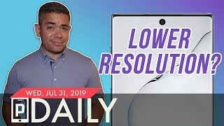 The Samsung Galaxy Note 10's Display Resolution is Going Down...