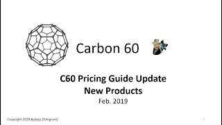 Updated C60 Pricing Guide / New C60 Products Feb 2019