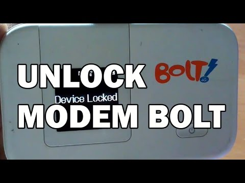 Unlock Modem Bolt 2016