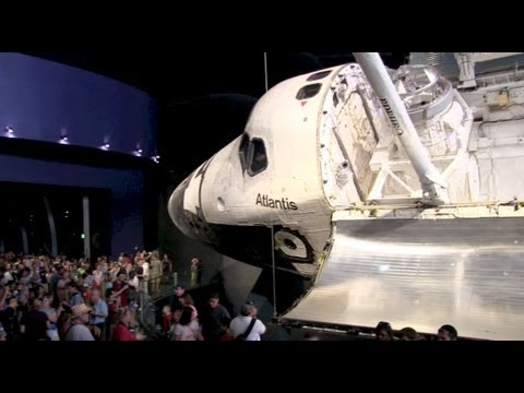 Inside Space Shuttle Atlantis exhibit at Kennedy Space Center Visitor Complex