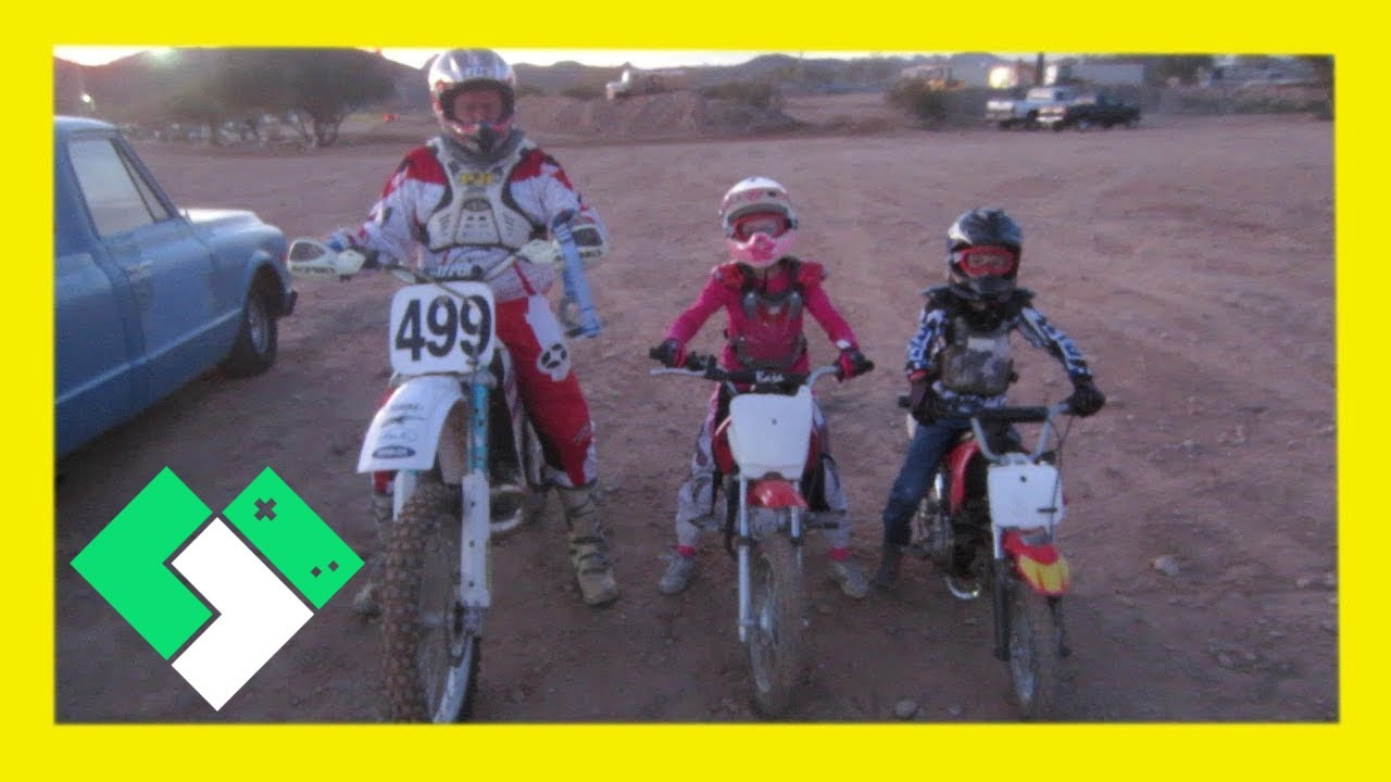 first time on a dirt bike track   2 12 14 - day 684