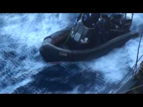 Sea Shepherd attempt to flood engines on the Nisshin Maru - Feb 26, 2013