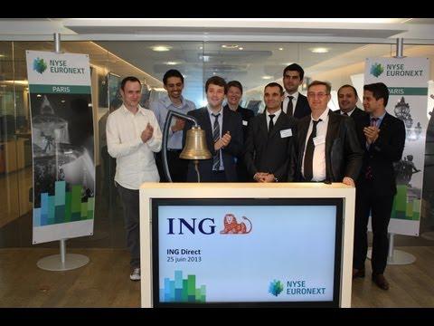 L'équipe Bourse ING Direct ferme les marchés européens à Paris