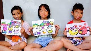 Trò Chơi Vẽ Và Tô Màu Con Vật , Ngôi Nhà  - Bé Nhím TV - Đồ Chơi Trẻ Em Thiếu Nhi