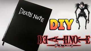 DIY: COMO FAZER UM CADERNO DEATH NOTE #diyanime #diycaderno