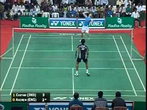 badminton india open 2008 Chetan ANAND vs Andrew SMITH INDIA OPEN 20081