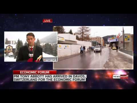 PM ABBOTT ARRIVES AT WORLD ECONOMIC FORUM IN DAVOS, SWITZERLAND