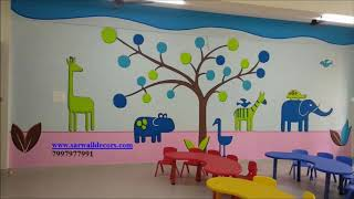 PRE PRIMARY SCHOOL WALL PAINTING IN HYDERABAD BY 7997977991