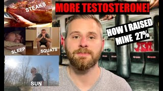 How I Increased My Testosterone In 3 Months!