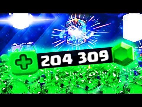 ТРАЧУ 1500 $ НА 200 000 ГЕМОВ | ОТКРЫВАЮ СУПЕР МАГИЧЕСКИЕ И ОГРОМНЫЕ СУНДУКИ | Clash Royale
