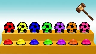 Soccer Ball Colors Video For Children || Learning Colors For Kids