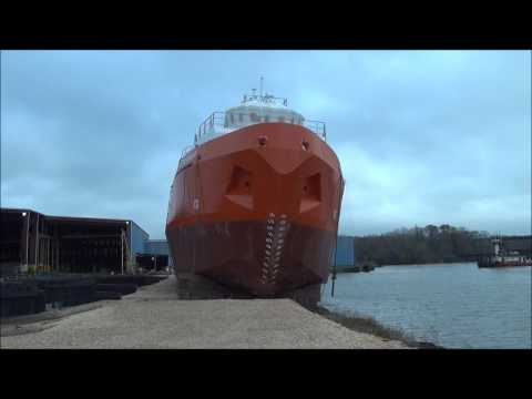 Ship Launch - AET Partnership - Bow View