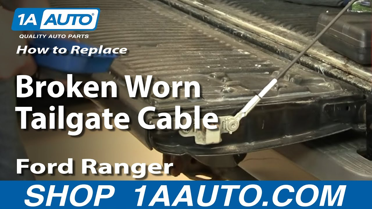 How To Install Replace Broken Worn Tailgate Cable Ford