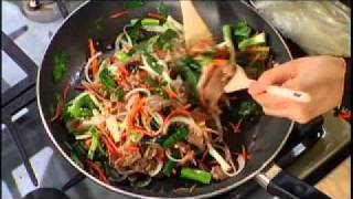 Korean Traditional Noodle Job Chai Recipe by Kyong Weathersby