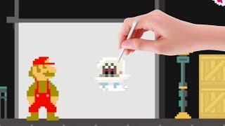 Mario Odyssey Cap Kingdom in Mario Maker [Super Mario Maker mod]