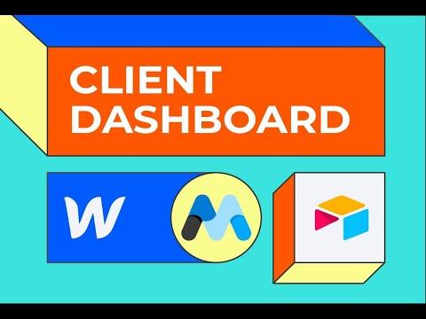 No code client dashboard using Webflow, Memberstack, Zapier, Airtable