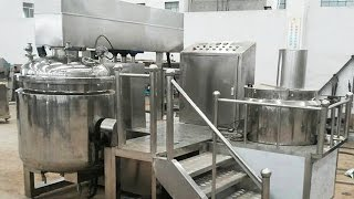Honey cream vacuum emulsifier equipments vacuum mixing machinery digital load cell electric heating