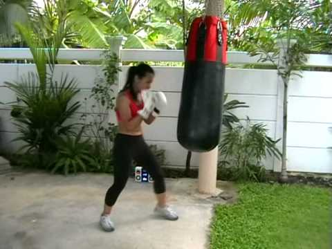 Girl doing the Bas Rutten Workout
