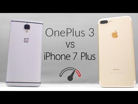 iPhone 7 Plus vs OnePlus 3 Speedtest Comparison!
