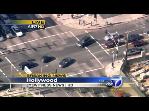 Los Angeles police chase car jacker