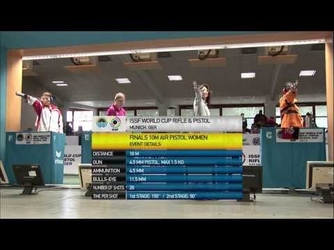 10m Women's Air Pistol final - Munich 2013 ISSF World Cup